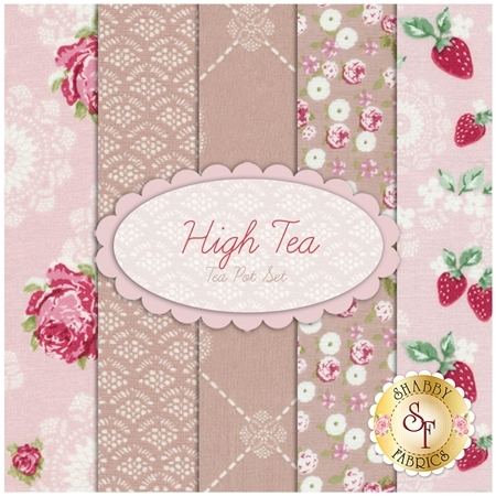High Tea  5 FQ Set - Tea Pot Set by Jera Brandvig for Lecien Fabrics