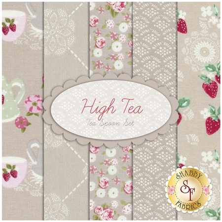 High Tea  5 FQ Set - Tea Spoon Set by Jera Brandvig for Lecien Fabrics