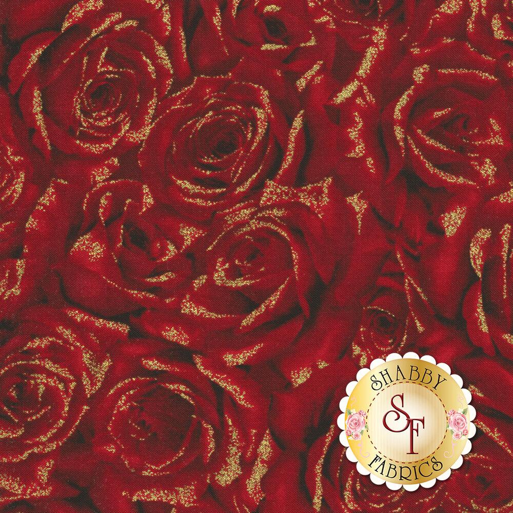 Hoffman Christmas 2018 Q7630-5G Cardinal Carols Red-Gold by Hoffman Fabrics REM #2