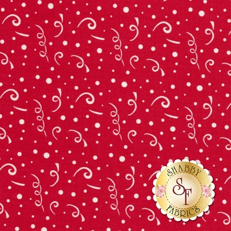 Holiday Banners C568-RED by Riley Blake Designs