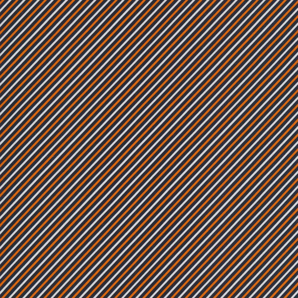 Black, white, and orange diagonal stripes