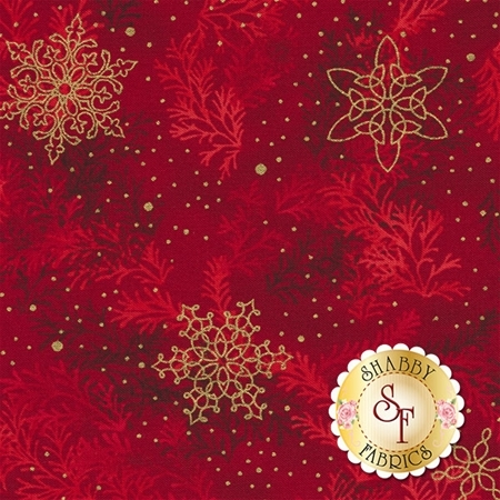 Holiday Flourish 10 16557-91 Crimson by Robert Kaufman Fabrics REM