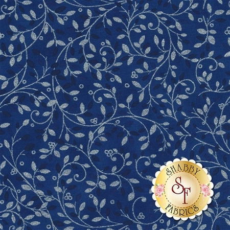 Holiday Flourish 10 16558-62 Indigo by Robert Kaufman Fabrics