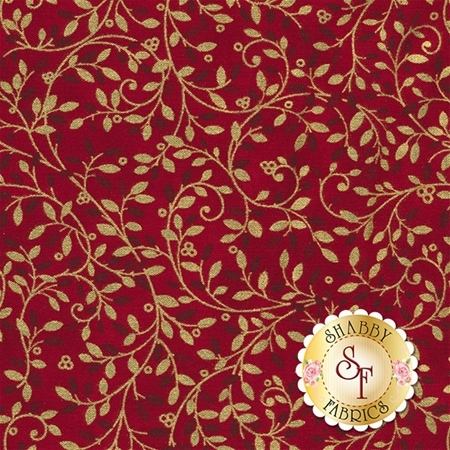 Holiday Flourish 10 16558-91 Crimson by Robert Kaufman Fabrics
