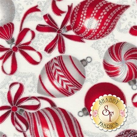 Holiday Flourish 10 16560-186 Silver by Robert Kaufman Fabrics REM