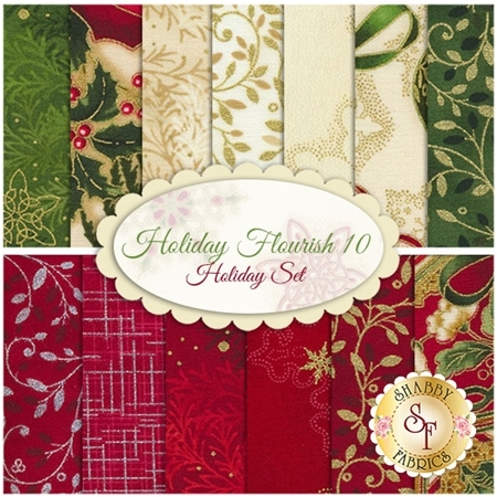 Holiday Flourish 10   13 FQ Set - Holiday Set by Robert Kaufman Fabrics
