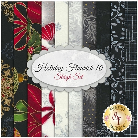 Holiday Flourish 10   10 FQ Set - Sleigh Set by Robert Kaufman Fabrics