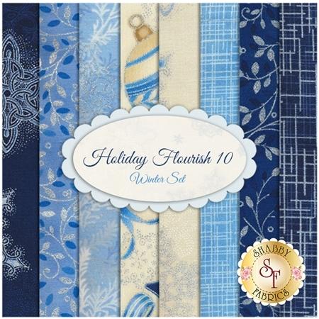 Holiday Flourish 10   8 FQ Set - Winter Set by Robert Kaufman Fabrics