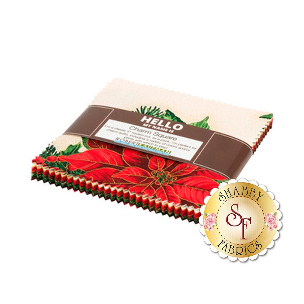 Holiday Flourish 13 precut 5 inch squares | Shabby Fabrics