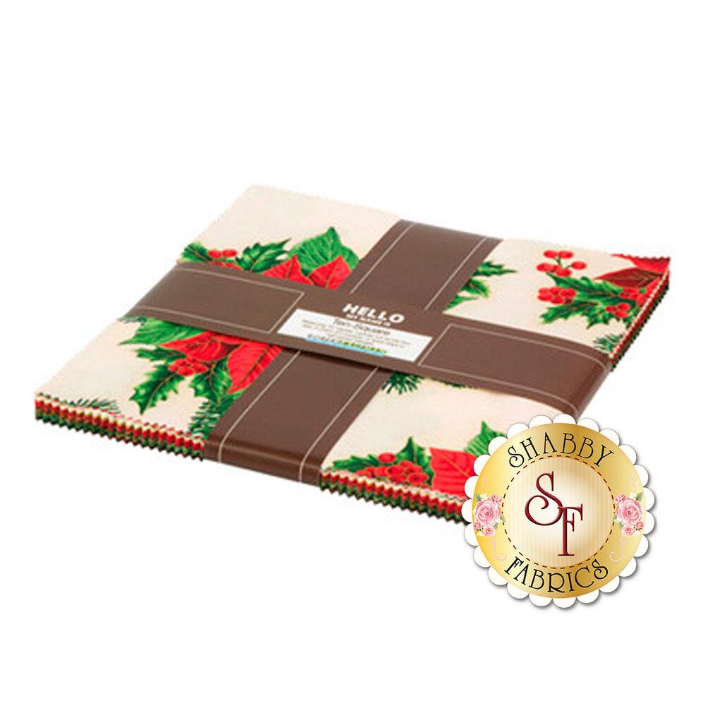 Holiday Flourish 13 precut 10 inch squares | Shabby Fabrics