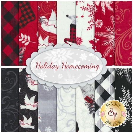 Holiday Homecoming 14 FQ Set by Jan Shade Beach for Henry Glass Fabrics