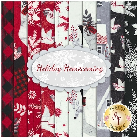 Holiday Homecoming 10 FQ Set by Jan Shade Beach for Henry Glass Fabrics