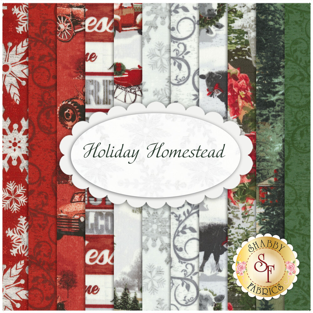 Holiday Homestead  11 FQ Set by Henry Glass