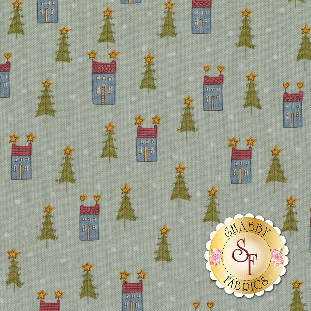 Home For Christmas 2071-11 for Henry Glass Fabrics