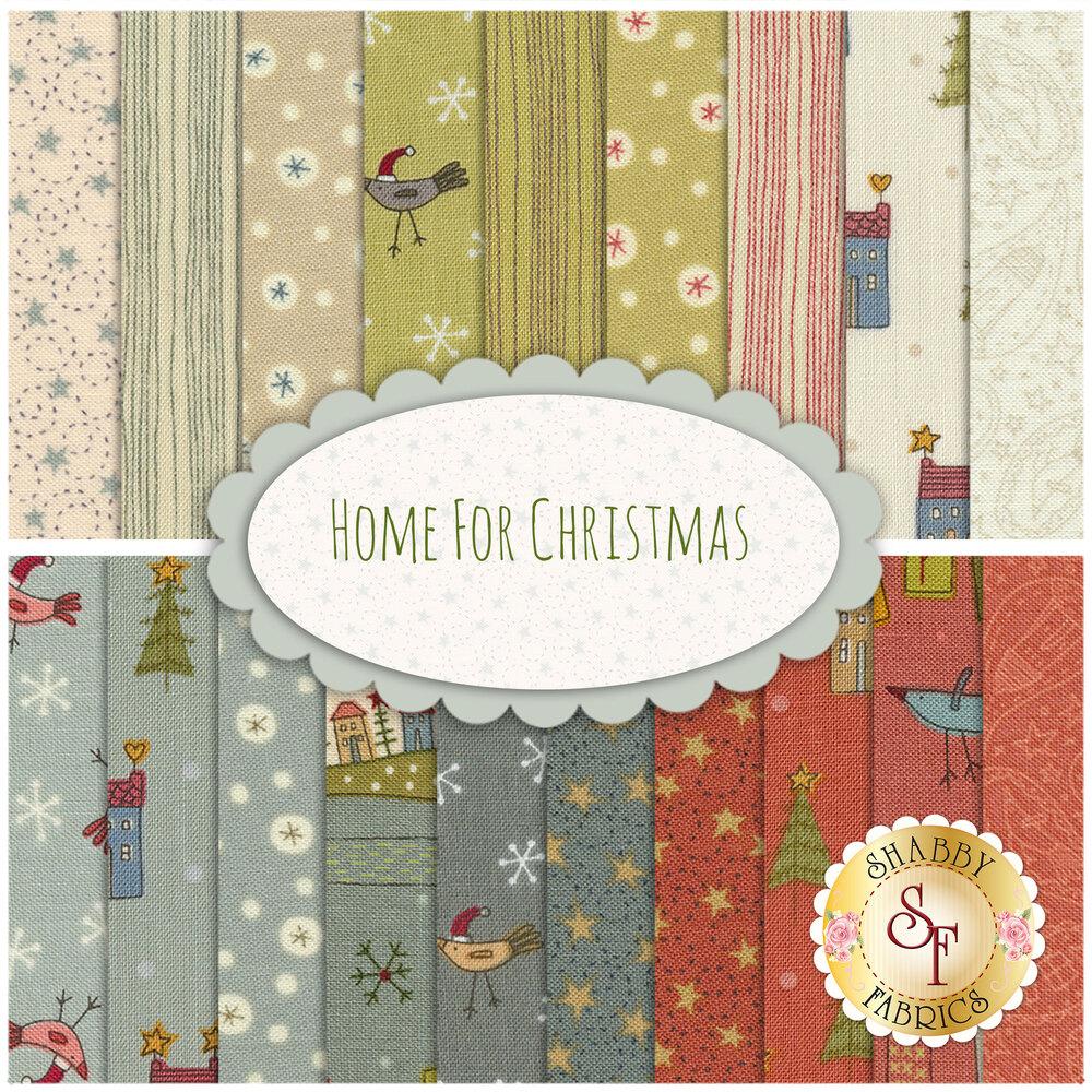 Home For Christmas 19 FQ Set for Henry Glass Fabrics