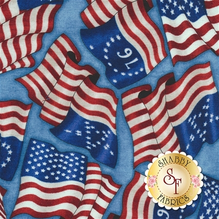 Home Of The Brave 24808-B Blue by Dan Morris for Quilting Treasures- REM #1