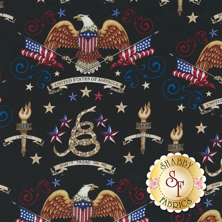 Home Of The Brave 24809-J Black by Dan Morris for Quilting Treasures