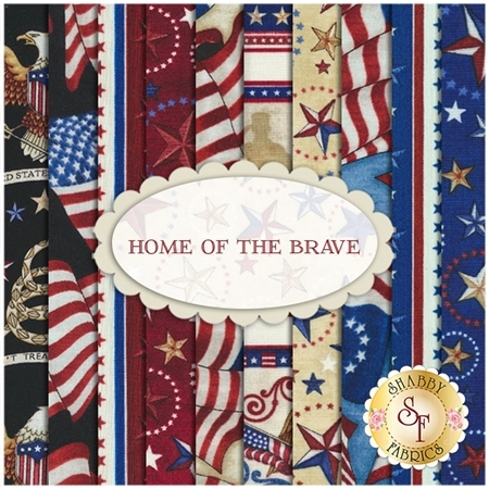Home Of The Brave  10 FQ Set by Dan Morris for Quilting Treasures