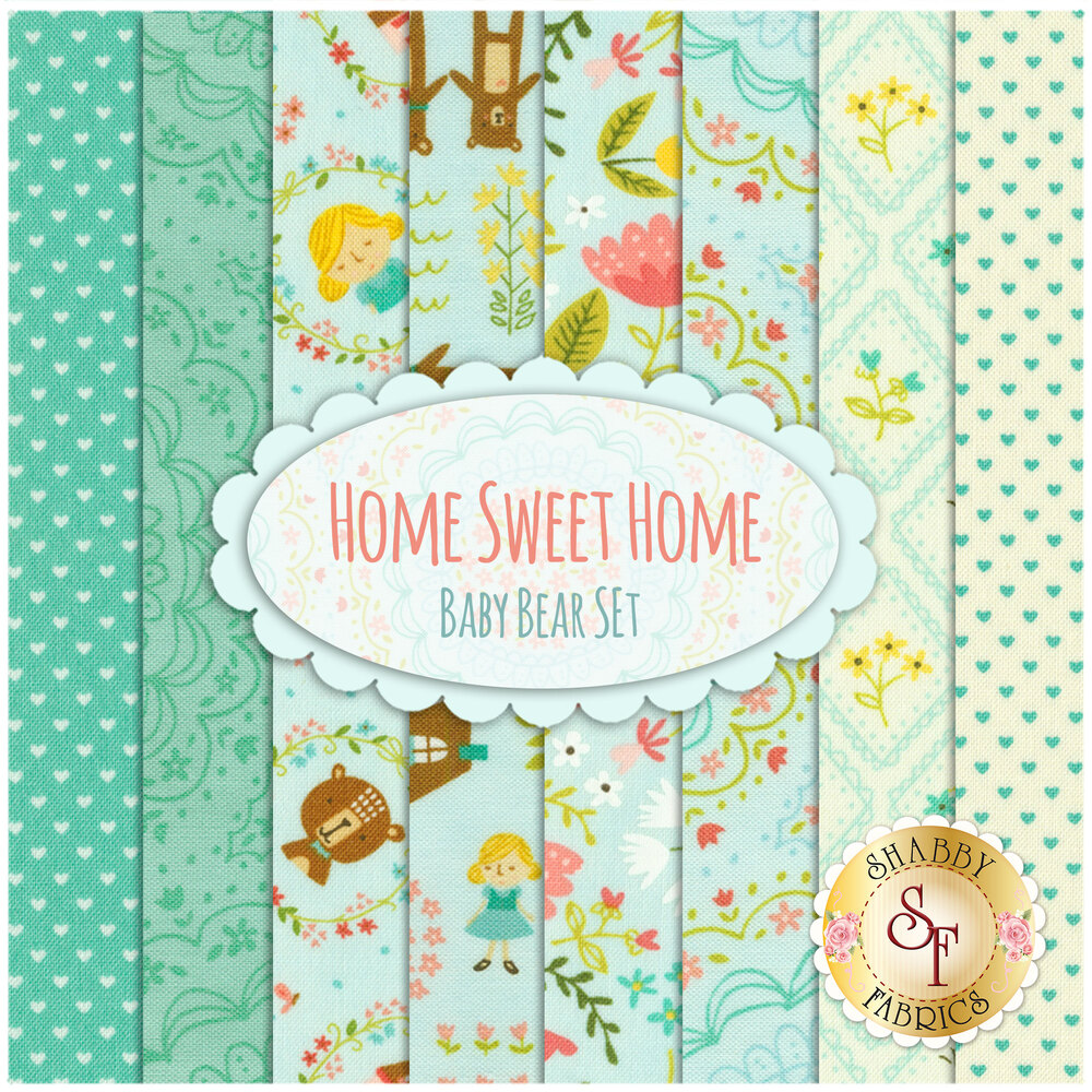 Home Sweet Home  8 FQ Set - Baby Bear Set by Moda Fabrics