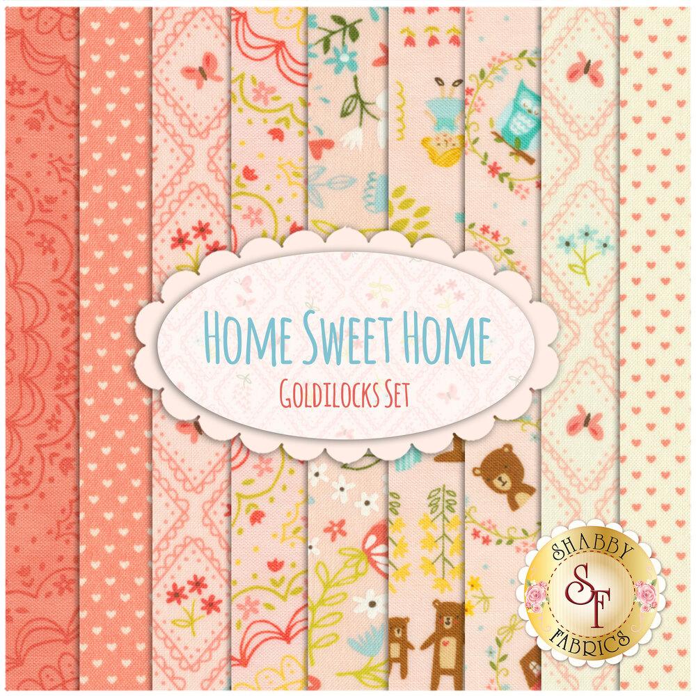 Home Sweet Home  9 FQ Set - Goldilocks Set by Moda Fabrics