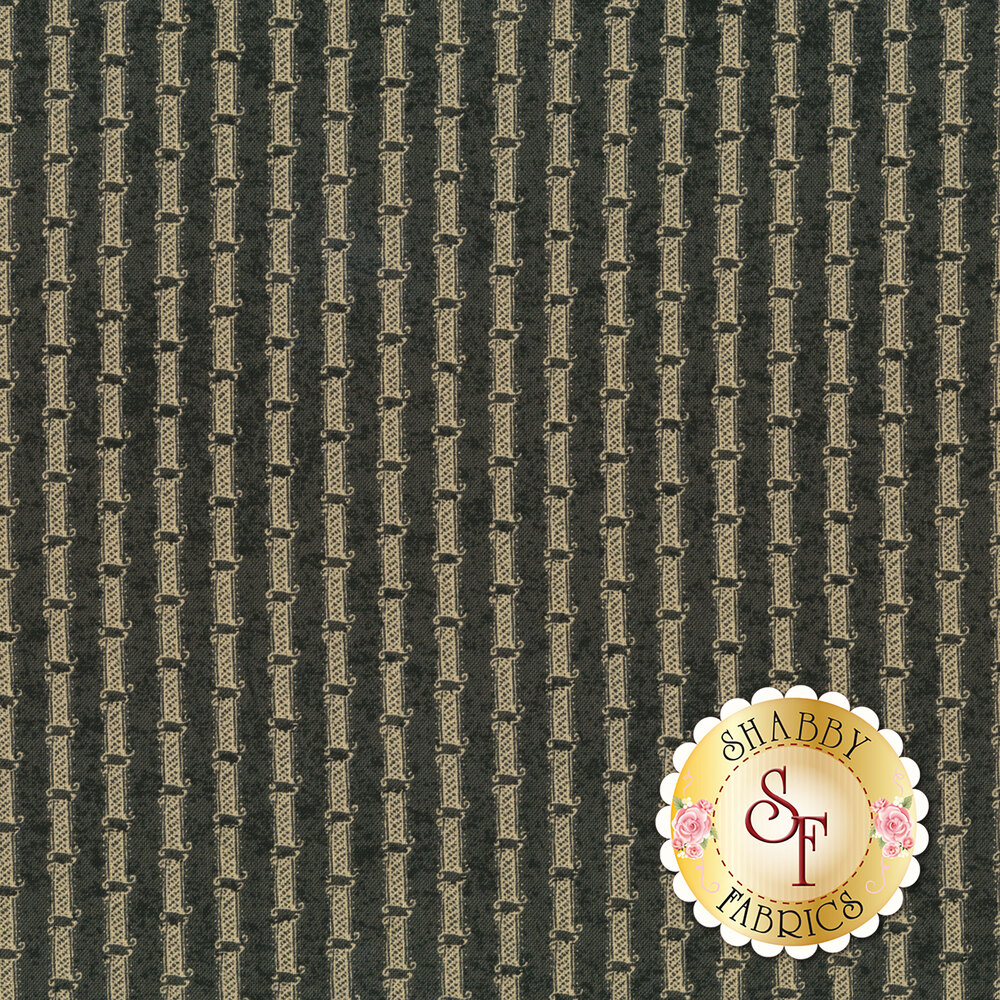 Gold stripe on gray | Shabby Fabrics