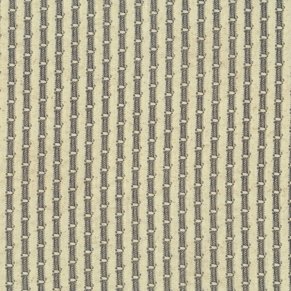Gray stripe on cream | Shabby Fabrics