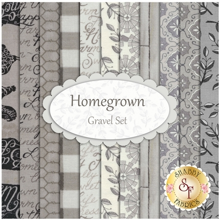 Homegrown  11 FQ Set - Gravel Set by Deb Strain for Moda Fabrics