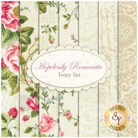 Hopelessly Romantic  7 FQ Set - Ivory Set by Northcott Fabrics