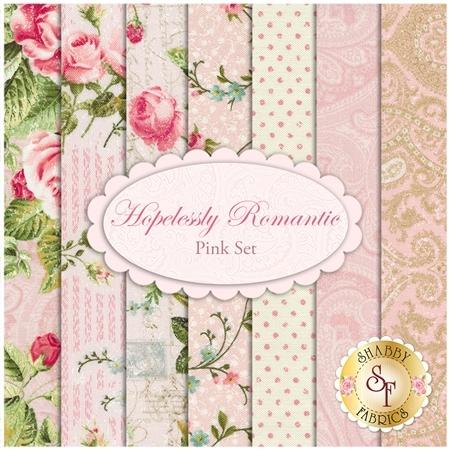 Hopelessly Romantic  7 FQ Set - Pink Set by Northcott Fabrics