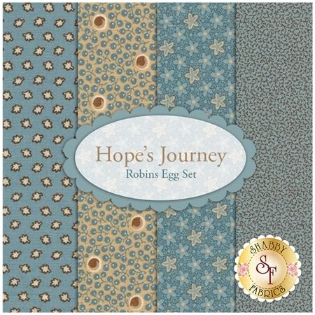 Hope's Journey  4 FQ Set - Robins Egg Set by Betsy Chutchian for Moda Fabrics