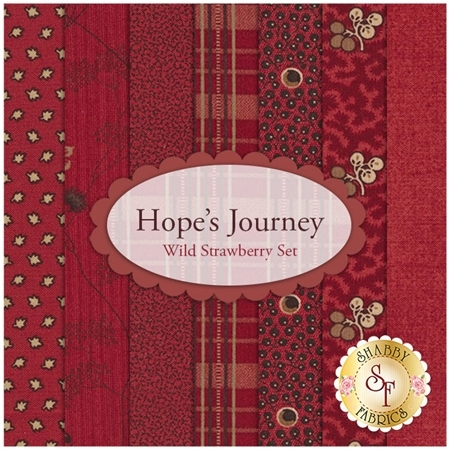 Hope's Journey  7 FQ Set - Wild Strawberry Set by Betsy Chutchian for Moda Fabrics