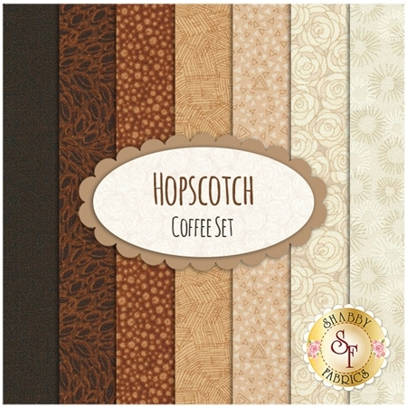 Hopscotch  7 FQ Set - Coffee Set by RJR Fabrics