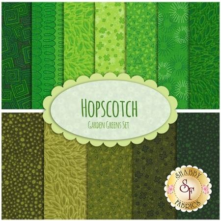 Hopscotch  12 FQ Set - Garden Greens Set by RJR Fabrics