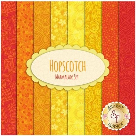 Hopscotch  8 FQ Set - Marmalade Set by RJR Fabrics