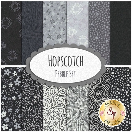 Hopscotch  12 FQ Set - Pebble Set by RJR Fabrics