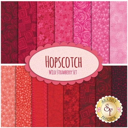 Hopscotch  15 FQ Set - Wild Strawberry Set by RJR Fabrics