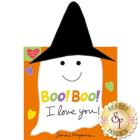 Huggable & Loveable 3369P-01 Soft Book Panel - Boo! Boo! I Love You by Sandra Magsamen for Studio E Fabrics