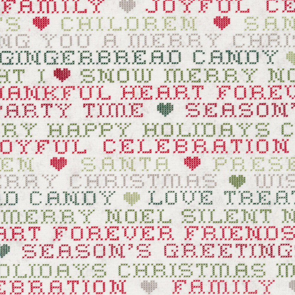 Christmas words on a white background