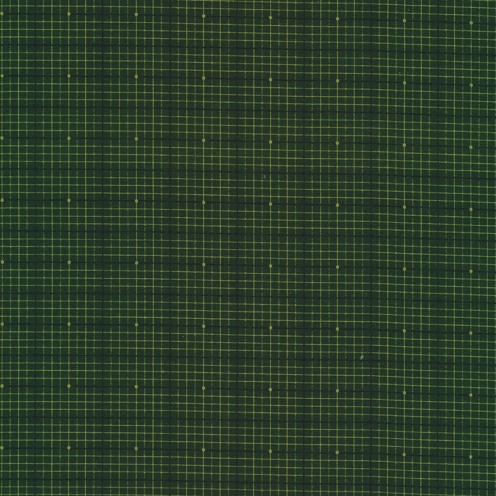 Tonal green plaid