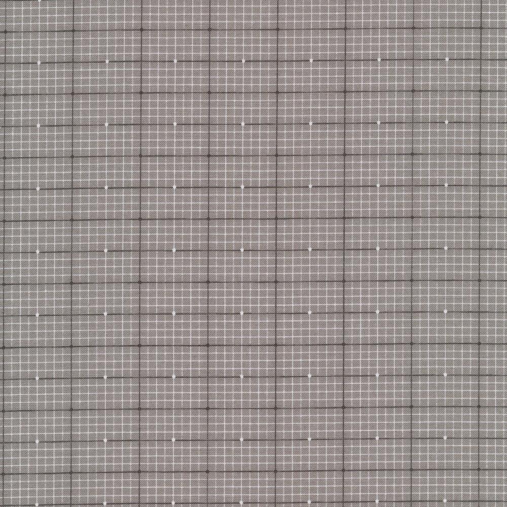 White and gray plaid