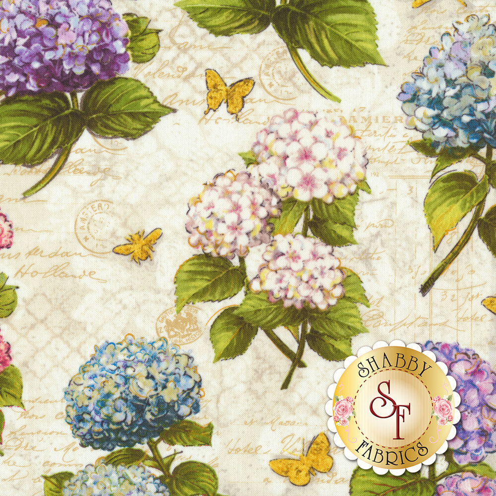 Hydrangea Dreams 96437-134 Large A/O Ivory by Wilmington Prints