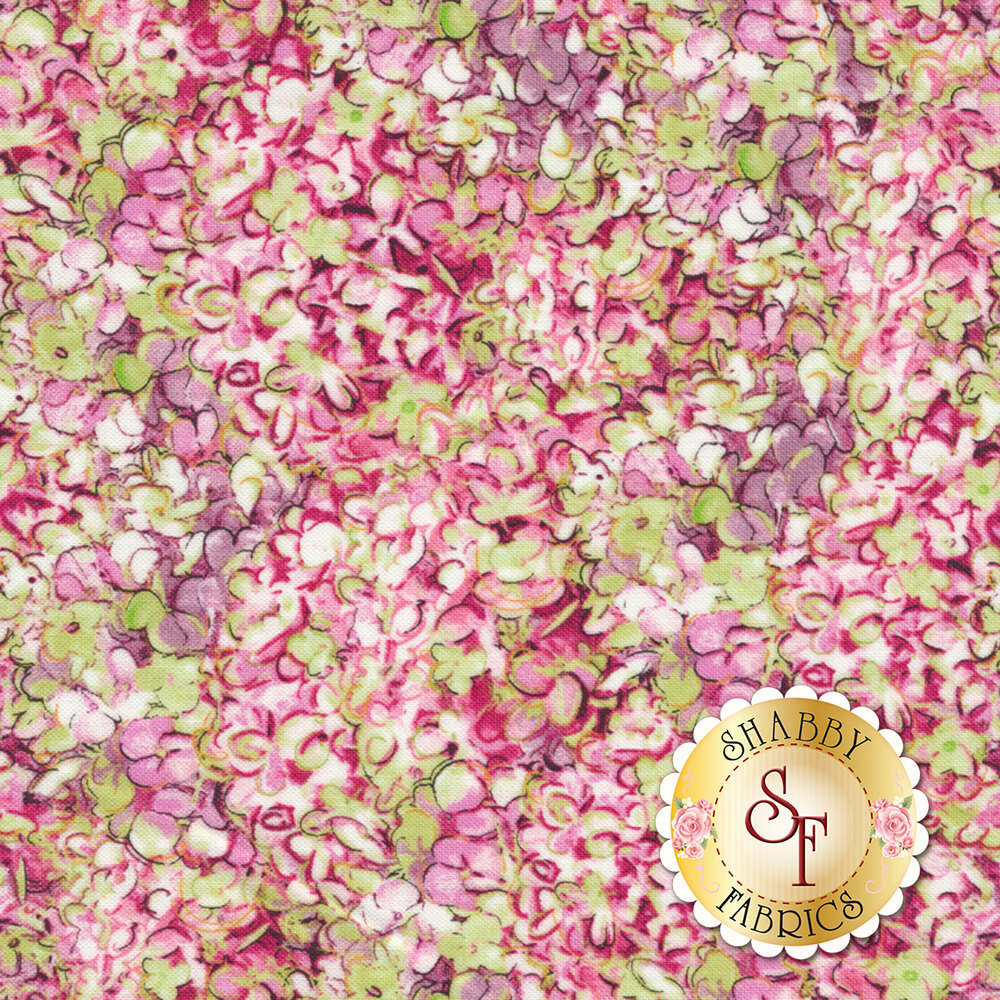 Hydrangea Dreams 96439-371 Packed Hydrangeas Pink by Wilmington Prints
