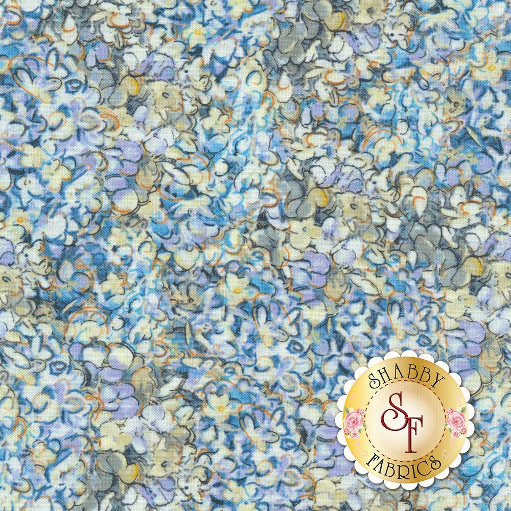 Hydrangea Dreams 96439-451 Packed Hydrangeas Blue by Wilmington Prints