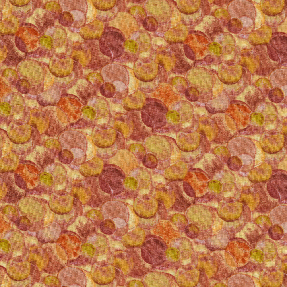 Overlapping bubbles and rings   Shabby Fabrics