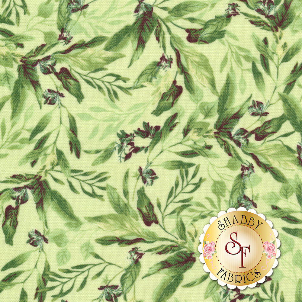 Isabelle C6481-GREEN Leaves by Timeless Treasures Fabrics | Shabby Fabrics