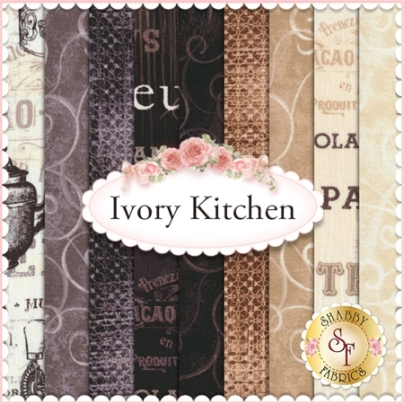 Ivory Kitchen  9 FQ Set by Candace Metzger for Red Rooster Fabrics