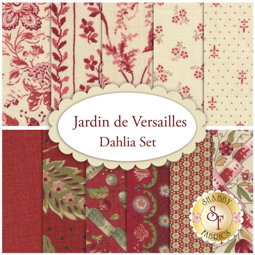 Jardin de Versailles  11 FQ Set - Dahlia Set for Moda Fabrics