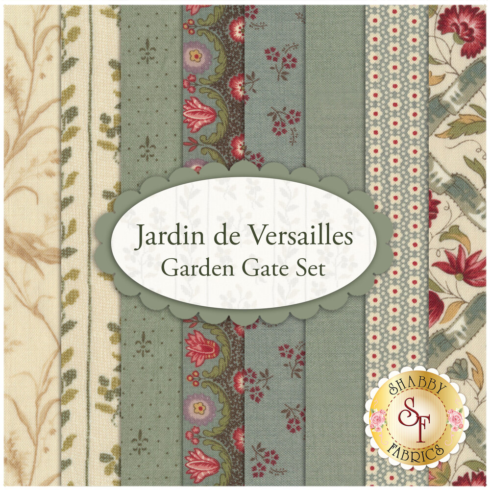 Jardin de Versailles  8 FQ Set - Garden Gate Set by French General for Moda Fabrics