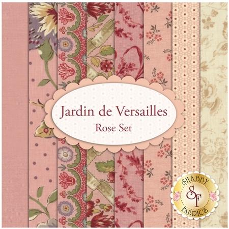 Jardin de Versailles  8 FQ Set - Rose Set by French General for Moda Fabrics