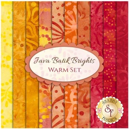 Java Batik Brights  10 FQ Set - Warm Set from Maywood Studio Fabrics